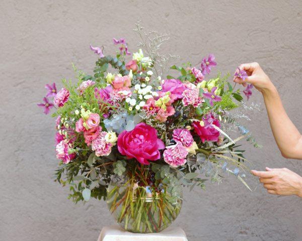 Centro de flores XXL en esfera de cristal