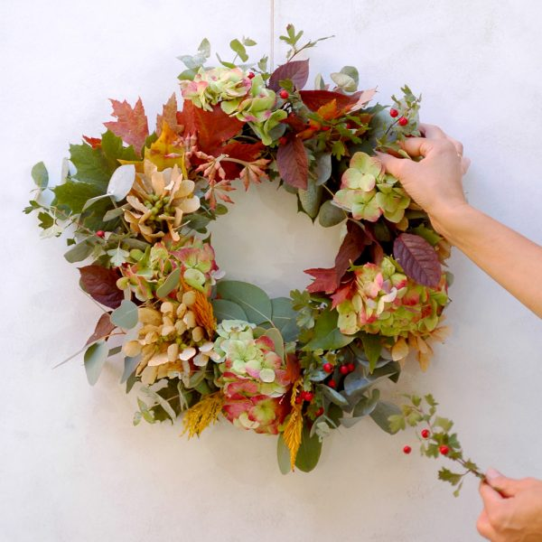 Corona de otoño por Arbolande