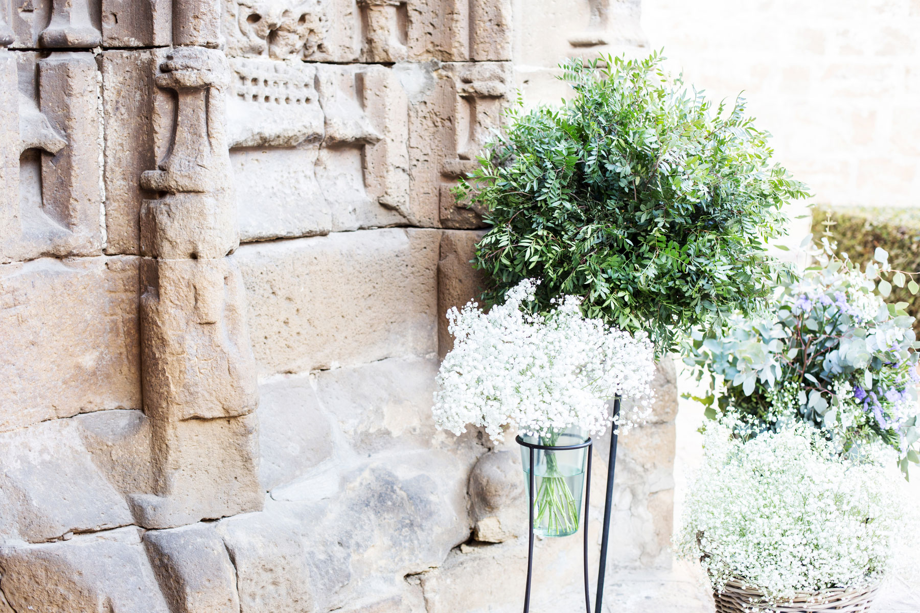 Boda elegante en Úbeda Andalucía decoración Iglesias bodegón entrada
