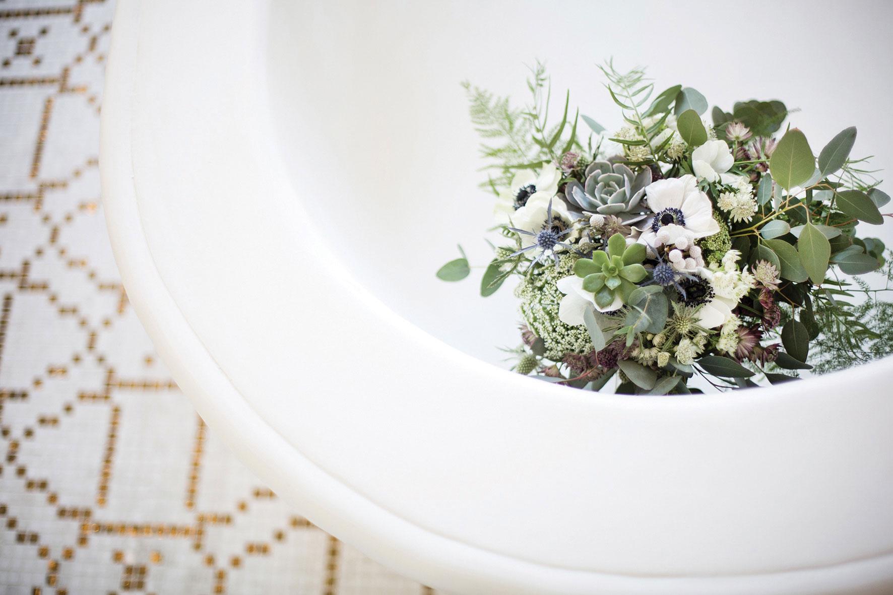 Ramo de novia elegante a medida diferente invierno
