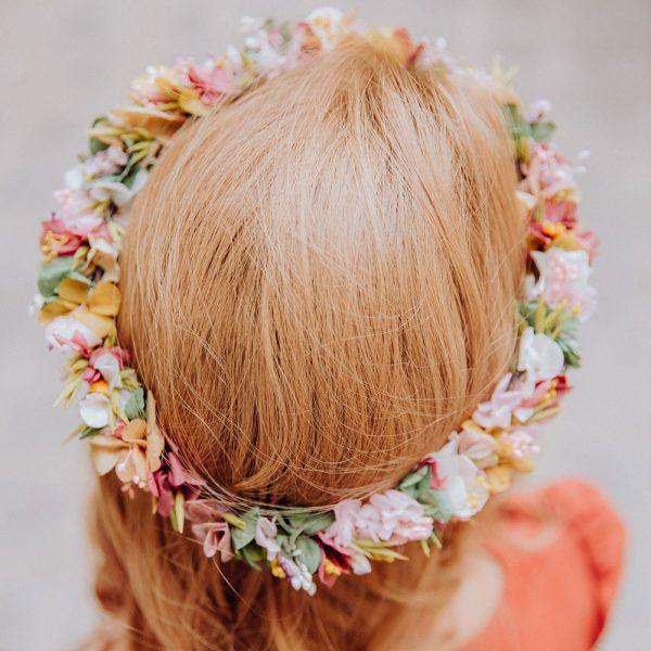 Corona flores preservadas para novia
