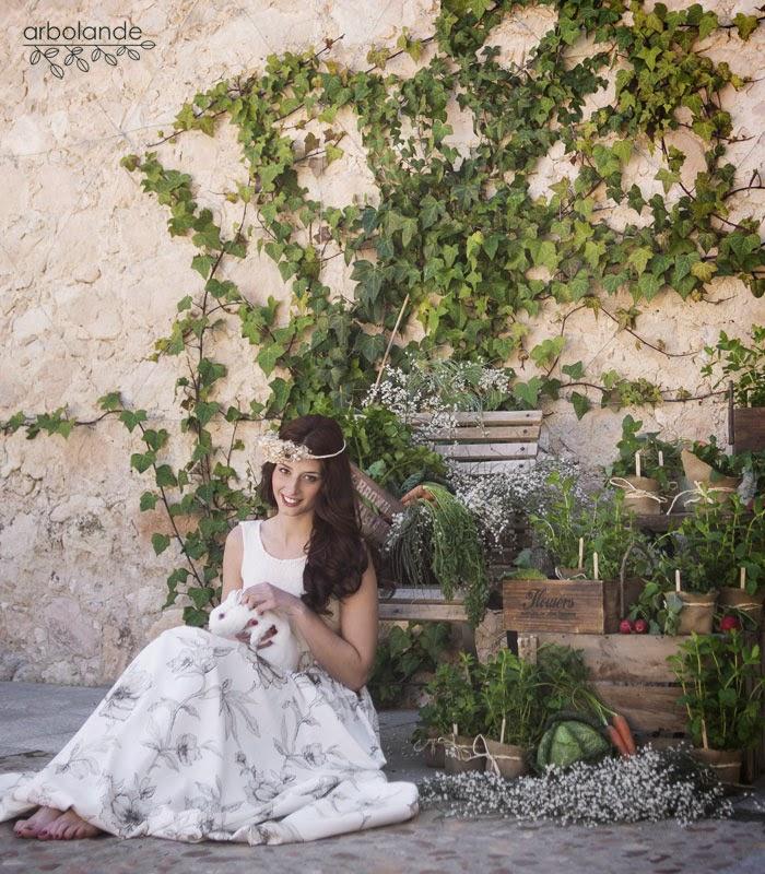 Flores para una boda en el campo